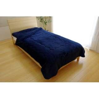 17 フランIT2枚合わせ毛布(ダブルサイズ/180×200cm/ネイビー)