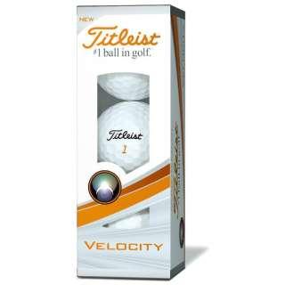 【スリーブ単位販売になります】ゴルフボール VELOCITY《1スリーブ(3球)/ホワイト》T8024S 【オウンネーム非対応】