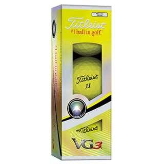 【スリーブ単位販売になります】ゴルフボール VG3《1スリーブ(3球)/イエローパール》 【オウンネーム非対応】
