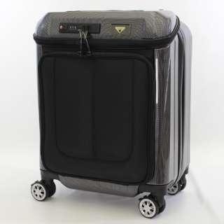 USBポート付きスーツケース 28L カーボンブラック TRI2049-45CBK [TSAロック搭載]
