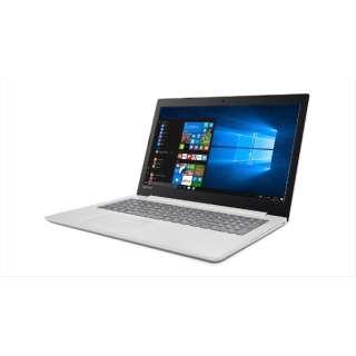 80XR009SJP ノートパソコン Ideapad (アイデアパッド )320 ブリザードホワイト [15.6型 /intel Celeron /HDD:500GB /メモリ:4GB /2018年1月モデル]