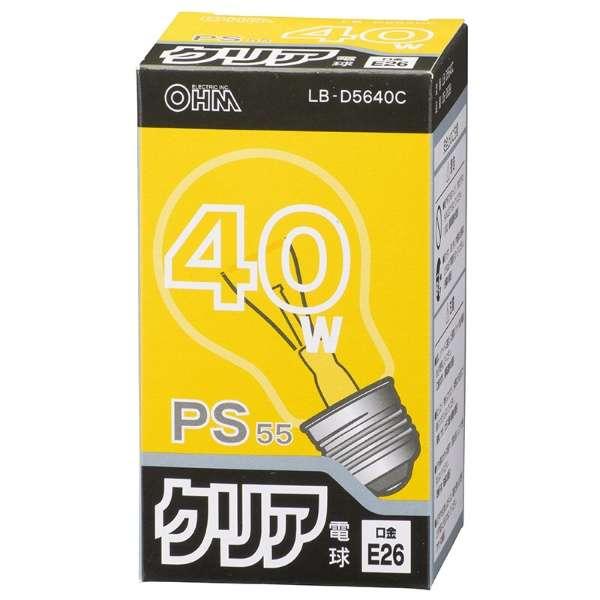 LB-D5640C 白熱電球 クリア [E26 /1個 /一般電球形]