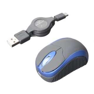 SRM-MA01/BL マウス ブルー [BlueLED /3ボタン /USB /有線]