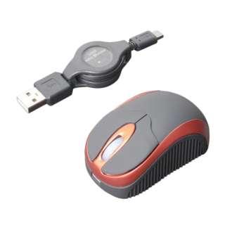 SRM-MA01/RD マウス レッド [BlueLED /3ボタン /USB /有線]