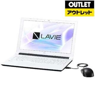 【アウトレット品】 15.6型ノートPC[Office付き・Win10 Home・Celeron・HDD 500GB・メモリ 4GB]  LAVIE Note Standard ホワイト PC-NS100H2W (2017年夏モデル) 【外装不良品】