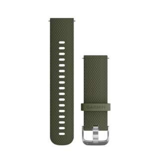 ウェアラブル端末用交換ベルト 20mm 010-12561-20 Moss Stainless silicon