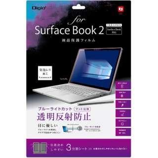 SurfaceBook2用 液晶保護フィルム ブルーライトカット 透明反射防止 TBFSFB17FLGCBC