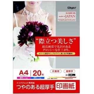 インクジェット用 印画紙 超厚手 A4 20枚 JPSK2-A4-20