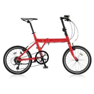 20型 折りたたみ自転車 CYLVA F8F(フレッシュレッド/8段変速) VF8F20【2018年モデル】 【組立商品につき返品不可】