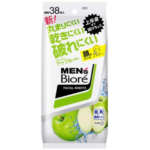 メンズビオレ 洗顔シート フレッシュアップルの香り 卓上用 38枚入