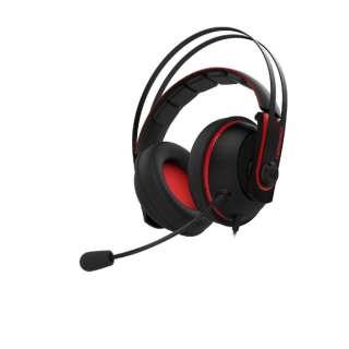 Cerberus V2 有線ゲーミングヘッドセット Cerberus レッド [φ3.5mmミニプラグ /両耳 /ヘッドバンドタイプ]