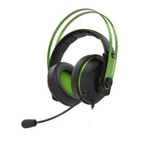 Cerberus V2 有線ゲーミングヘッドセット Cerberus グリーン [φ3.5mmミニプラグ /両耳 /ヘッドバンドタイプ]
