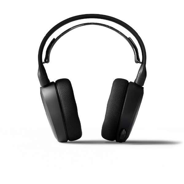 61485STEELSERIES ゲーミングヘッドセット Arctis3Bluetooth ブラック [ワイヤレス(Bluetooth)+有線 /両耳 /ヘッドバンドタイプ]