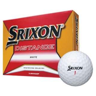 ゴルフボール スリクソン DISTANCE《1ダース(12球)/ホワイト》 【オウンネーム非対応】