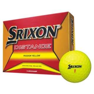 ゴルフボール スリクソン DISTANCE《1ダース(12球)/パッションイエロー》 【オウンネーム非対応】