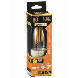 LDC6L-E17/D C6 LED電球 クリア [E17 /電球色 /1個 /60W相当 /シャンデリア電球形 /全方向タイプ]