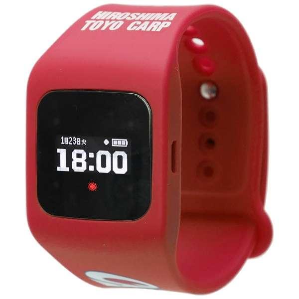 ウェアラブル端末(ウォッチタイプ)カープ赤2018年モデル 「funband(ファンバンド)」 SA-BY009 赤