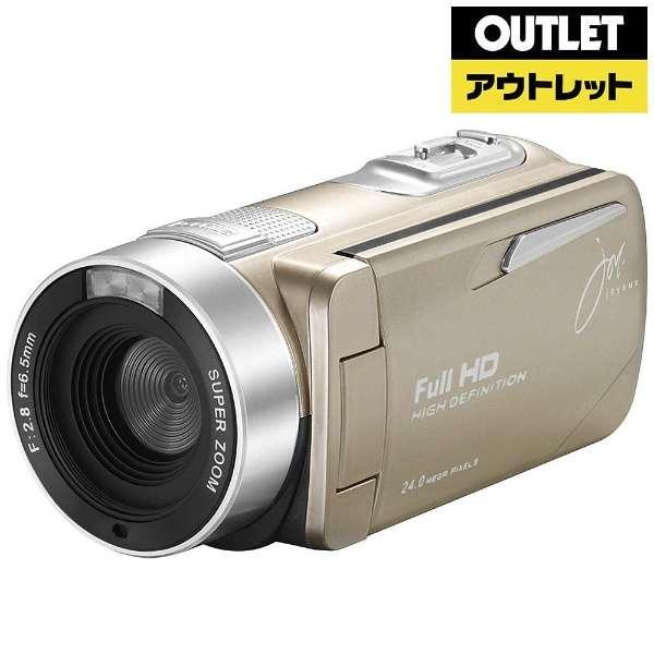 【アウトレット品】 ビデオカメラ [フルハイビジョン対応] JOY-F9TC ゴールド 【生産完了品】