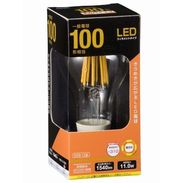 LDA12L C6 LEDフィラメント電球 クリア [E26 /電球色 /1個 /100W相当 /一般電球形 /全方向タイプ]