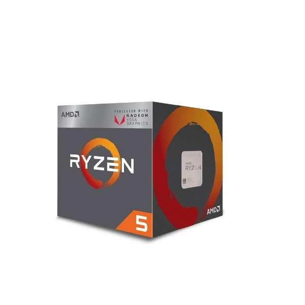 〔CPU〕 AMD Ryzen 5 2400G with Wraith Stealth cooler YD2400C5FBBOX
