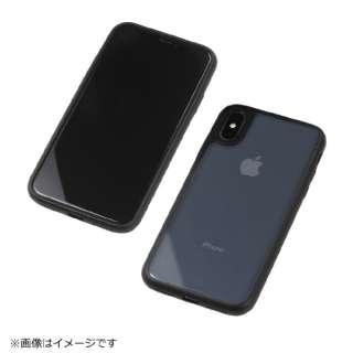 iPhoneX用 PUレザーバンパー ブラック BKS-IPXPUB01BK