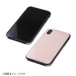 iPhoneX用 TPU+アルミ+ガラスケース ピンク BKS-IPXUNC01PN