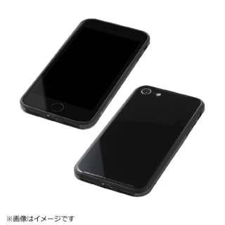 iPhone8用 TPU+アルミ+ガラスケース ブラック BKS-IP8UNC01BK
