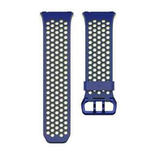 ウェアラブル端末ionic用交換バンド スポーツバンド Sサイズ FB164SBBUS コバルト&ライム(Blue Yellow)