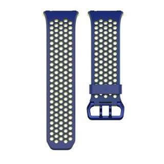 ウェアラブル端末ionic用交換バンド スポーツバンド Lサイズ FB164SBBUL コバルト&ライム(Blue Yellow)