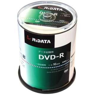 D-R47GB.PW100RD C データ用DVD-R [100枚 /4.7GB /インクジェットプリンター対応]