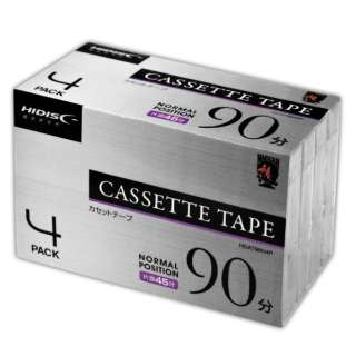 HDAT90N4P カセットテープ HIDISC [4本 /90分 /ノーマルポジション]
