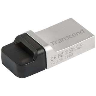 TS32GJF880S USBメモリ JetFlash 880 シルバー [32GB /USB3.0 /USB TypeA+microUSB /キャップ式]