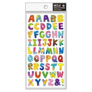 [シール]文字コレクション クレヨン ABC 77532