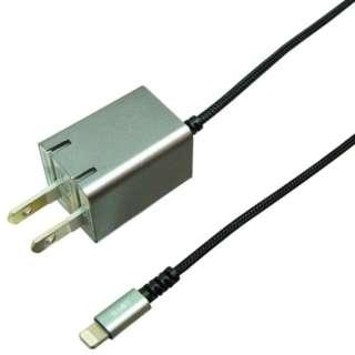 AC充電器 Lightning 1.5m スペースグレー BACLAN10GY