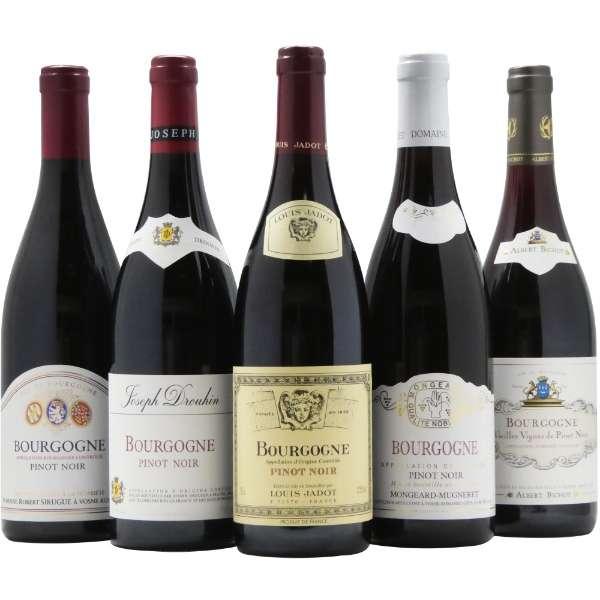 第3弾 有名生産者のブルゴーニュ赤ワイン飲み比べセット (750ml/5本)【ワインセット】
