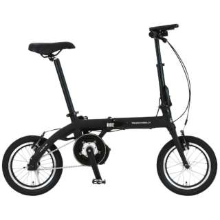【eバイク】 14型 電動折りたたみ自転車 ULTRA LIGHT E-BIKE TRANS MOBILLY(ブラック/シングルシフト) 92201-01 140E-BK 【組立商品につき返品不可】