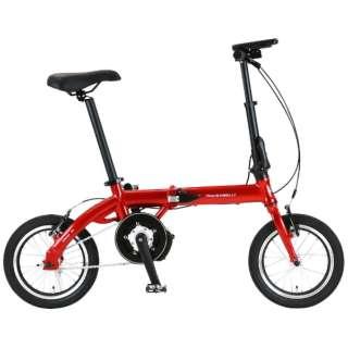 【eバイク】 14型 電動折りたたみ自転車 ULTRA LIGHT E-BIKE TRANS MOBILLY(レッド/シングルシフト) 92201-02 140E-RE 【組立商品につき返品不可】