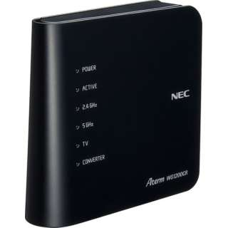 PA-WG1200CR wifiルーター Aterm(エーターム) ブラック [ac/n/a/g/b]