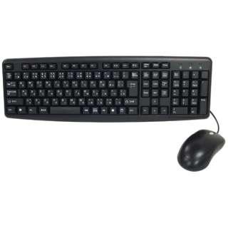有線キーボード[USB・Win・日本語109キー]&光学式マウス SCY-2IN1-BK ブラック [約145cm /【キーボード】H30×W445×D146mm]