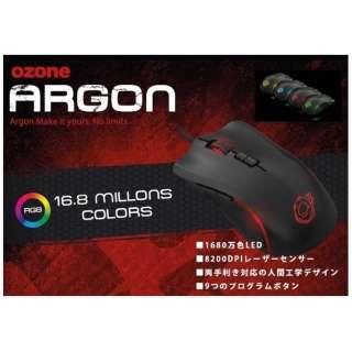 OZARGON ゲーミングマウス Argon RGB ブラック [レーザー /8ボタン /USB /有線]