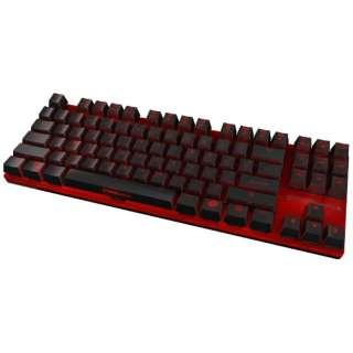 OZSTRIKEBATTLERUSBN ゲーミングキーボード  茶軸 STRIKE BATTLE ブラック [USB /有線]