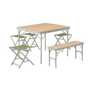 LOGOS Life ベンチテーブルセット6 73183014