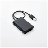 EDC-GUA3H-B USBハブ ブラック [USB3.0対応 /3ポート /バスパワー]