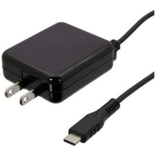 [Type-C]1具電纜型AC充電器(2m)OWL-ACJTC20V-BK黑色