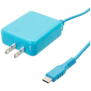 [Type-C]1具電纜型AC充電器(1.5m)OWL-ACJTC15V-BL藍色