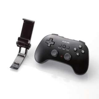 スマホ用 Bluetoothゲームパッド 12ボタン ホルダー付