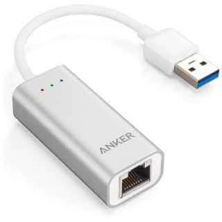 [USB-A オス→メス LAN]3.0変換アダプタ A7611011 グレー