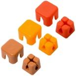 ケーブルホルダー キューブタイプ ミニ CM-CHCS/AS2 アソート(ピンク/オレンジ/ブラウン)