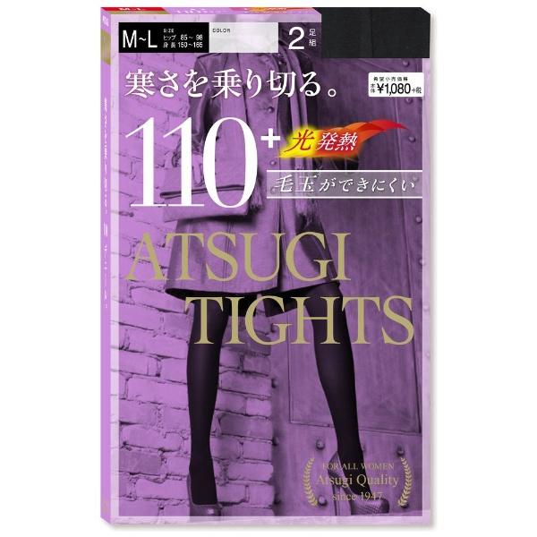 ATSUGI アツギ TIGHTS タイツ 110デニール M-L ブラック 1セット 2足組×5