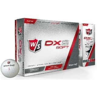 ゴルフボール ウイルソンスタッフ DX2 SOFT《1ダース(12球)/ホワイト》 [12球(1ダース)] 【オウンネーム非対応】